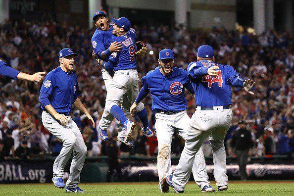 Los Cachorros celebran el título de las Grandes Ligas. Foto de internet