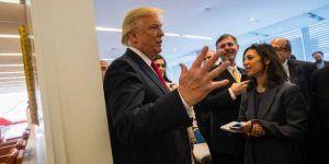 Así fue la visita de Trump al New York Times