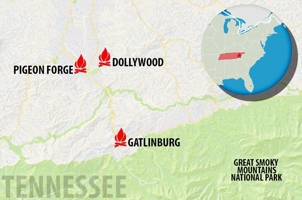 Incendio forestal deja al menos tres muertos en Tennessee