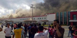 Incendio en planta de LG en Apodaca