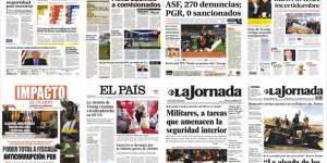 El TPP, la PGR y los partidos políticos en las portadas de los periódicos
