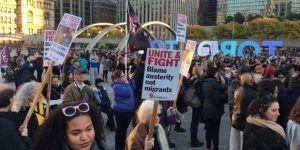 Protestas en Toronto contra Trump