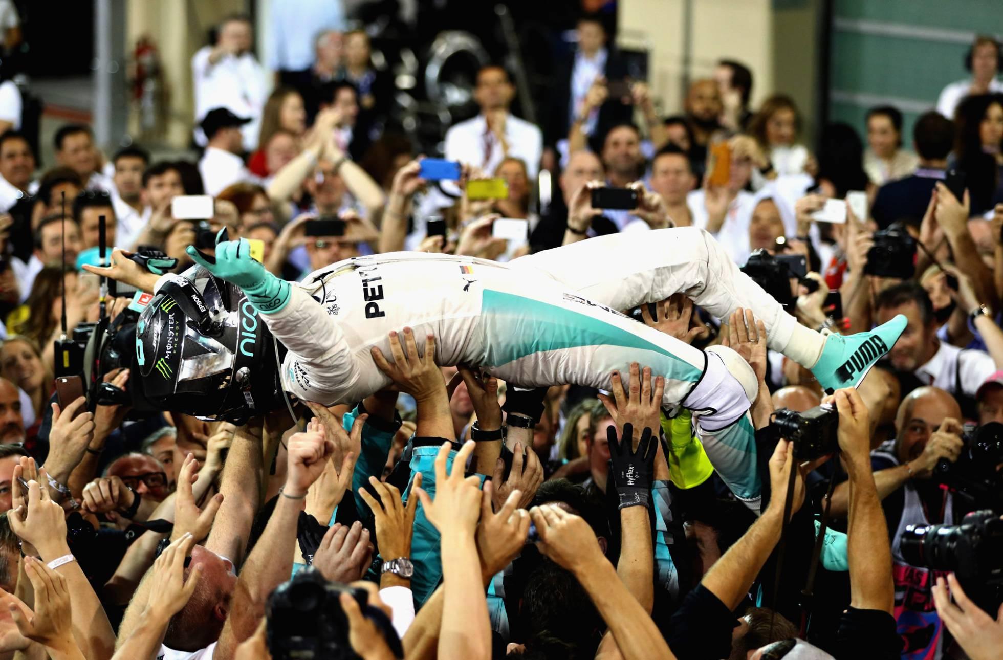 Rosberg solo necesitaba llegar en tercero para arrebatarle el título al británico Lewis Hamilton. Foto de Internet