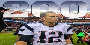 Tom Brady llega a 200 victorias en la NFL