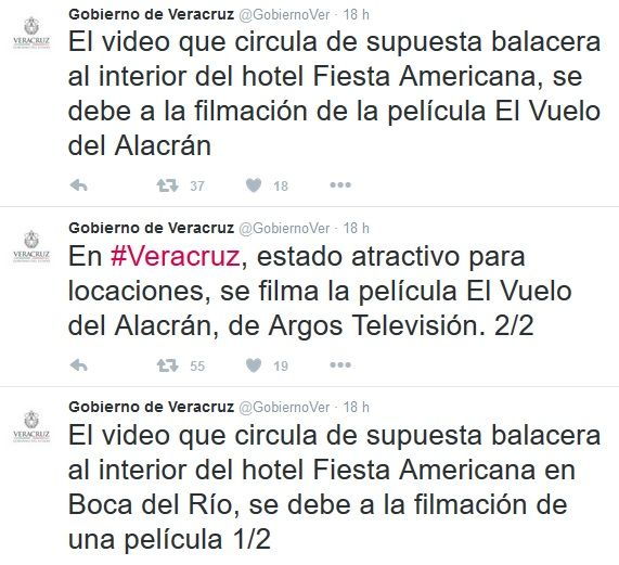 Confunde y atemoriza balacera para filmación en Veracruz