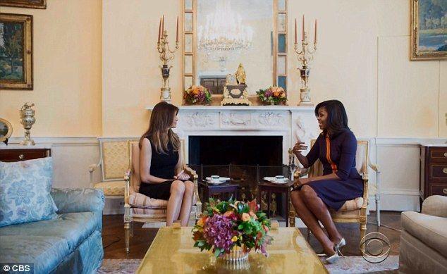 Melania Trump y Michelle Obama en la Casa Blanca. Foto de