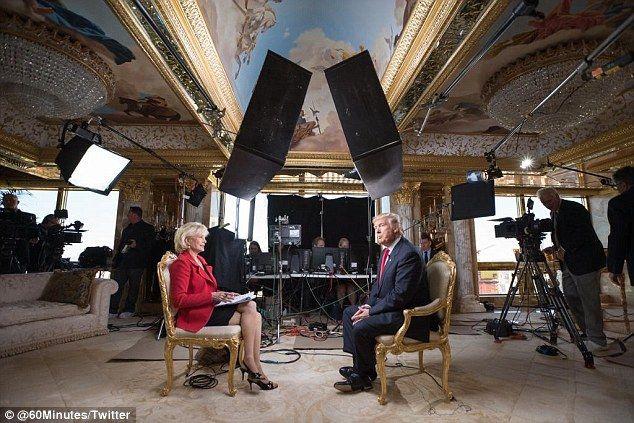 Donald Trump siendo entrevistado en su penthouse. Foto de
