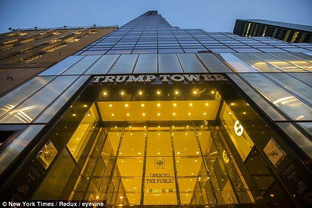 La Trump Tower donde vive el nuevo presidente electo de Estados Unidos. Foto de