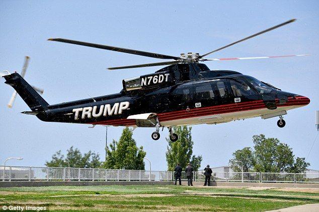 Helicóptero de Trump. Foto de