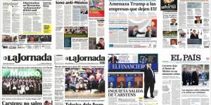 Carstens, Trump y Joaquín López-Dóriga en las portadas de los periódicos