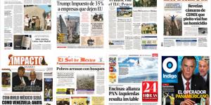 Donald Trump y los partidos políticos en las primeras planas del lunes