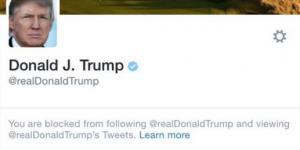 ¿Cómo ser bloqueado por Trump en Twitter?