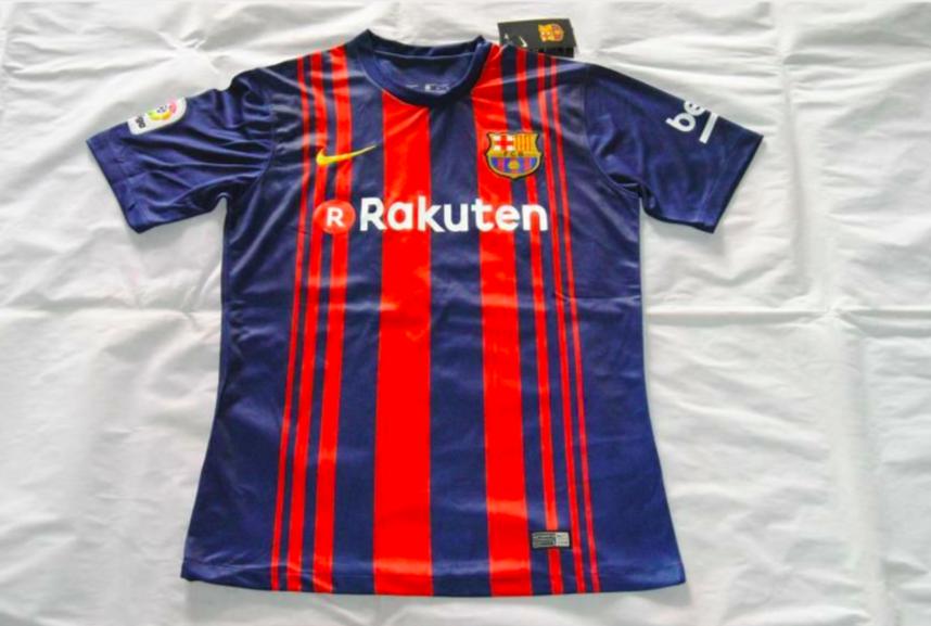La playera que el FC Barcelona usará la siguiente temporada. Foto de Twitter