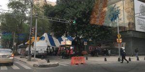 Campesinos bloquean Paseo de la Reforma por segundo día