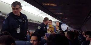 Video: pareja pelea con tripulación en pleno vuelo