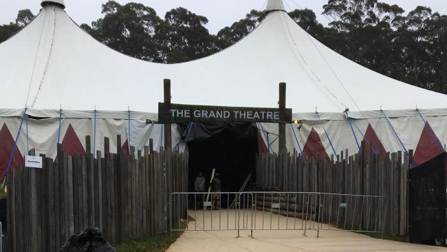Una de las entradas y salidas para el lugar del concierto. Foto de Herald Sun