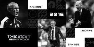 Ranieri, Santos y Zidane finalistas a Mejor Entrenador de la FIFA