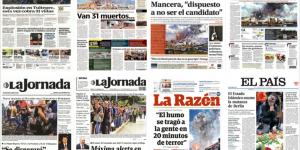 Explosión en Tultepec y Berlín en las primeras planas de México y el mundo