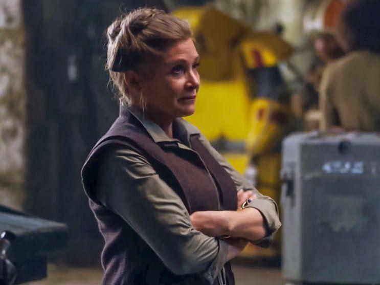 "Carrie Fisher en ""El despertar de la fuerza"". Foto de Disney"