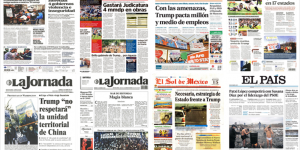 Donald Trump y el aumento en alimentos en los periódicos del domingo