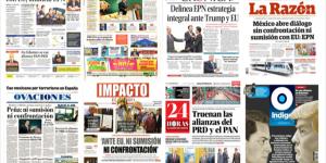 Renegociación del TLC en las portadas de los periódicos