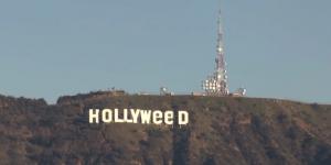 Vandalizan el icónico letrero de Hollywood
