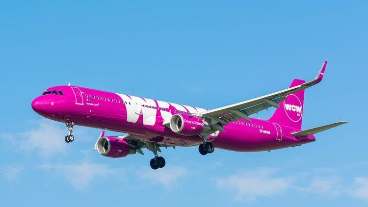Avión de WOW Air. Foto de Travel Weekly