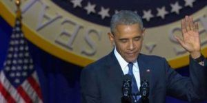 'Un honor haber sido presidente de EE.UU.': Obama