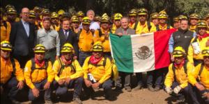 Brigadistas mexicanos llegan a Chile para combatir incendios