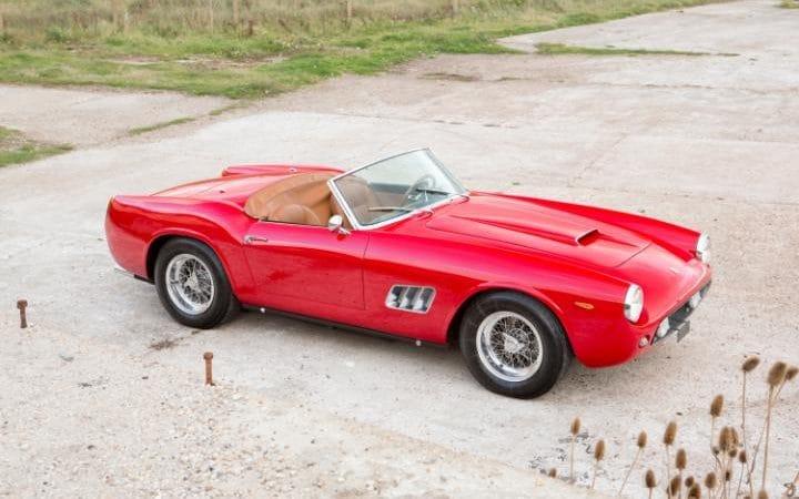 El lujoso automóvil. Foto de Bonhams