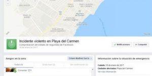 Facebook activa alerta por tiroteo en Playa del Carmen
