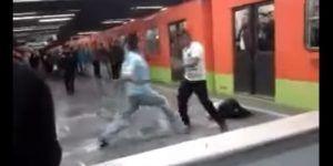 Video: pelea en Metro Chabacano