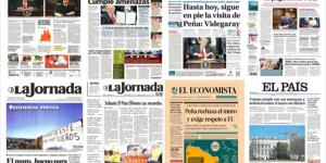 Trump acapara las primeras planas de México y el mundo