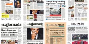 Obama acapara las primeras planas de México y el mundo