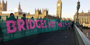 Protestan contra Trump en Londres, piden 'Puentes no muros'