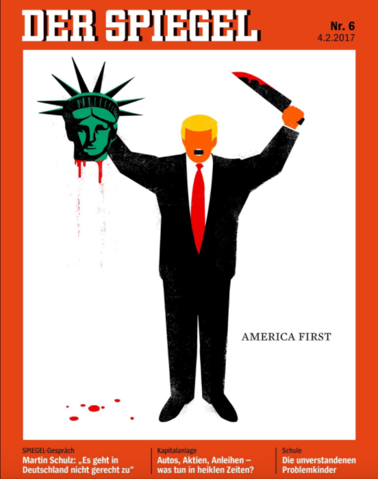 Donald Trump: Revista alemana le dedicó esta sangrienta portada