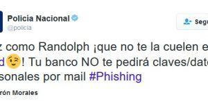 Policía española advierte sobre phishing con peculiar tuit