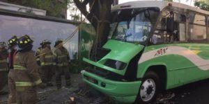 Camión choca contra un poste y un árbol en Periférico