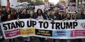 Protestas en Londres por invitación a Trump