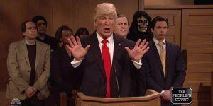 """Trump llega a la Corte en """"Saturday Night Live"""""""