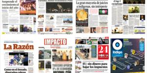 El turismo y Josefina Vázquez Mota en las portadas del martes