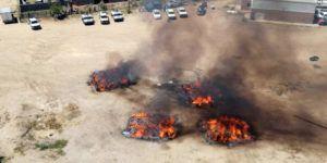 #Fotos Destruyen más de 16 toneladas de mariguana en Sinaloa