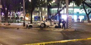 Policías dieron por muerto a conductor sobreviviente del percance en Reforma