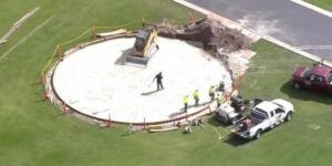 Construyen helipuerto en mansión de Trump en Florida