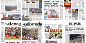 PRI, PRD y América en primeras planas del lunes