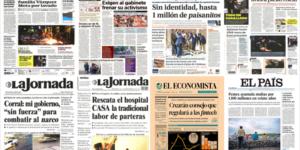 Estado de México y Rusia en primeras planas del lunes