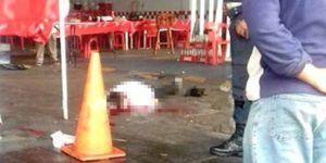 Cliente mata a asaltante en taquería de Coacalco