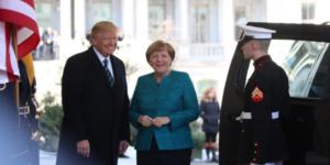 Trump recibe a Angela Merkel en la Casa Blanca