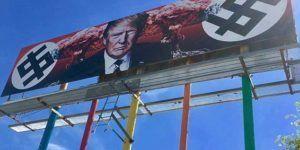 Colocan polémico cartel anti Trump en Phoenix
