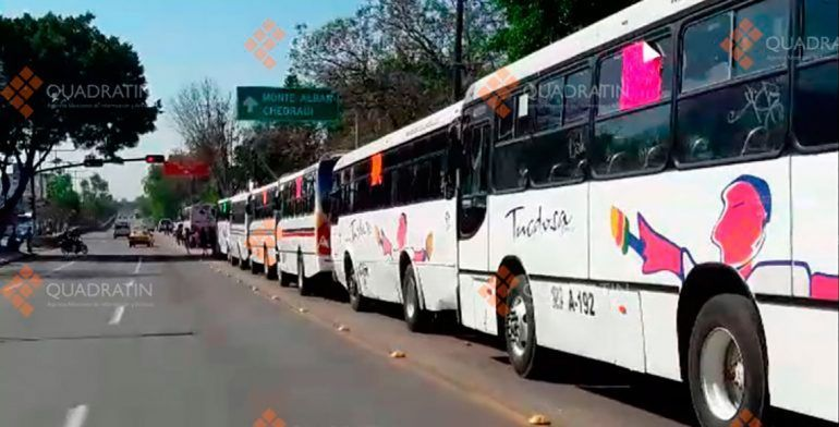 Pararían 60% de autobuses por huelga de transporte en Oaxaca